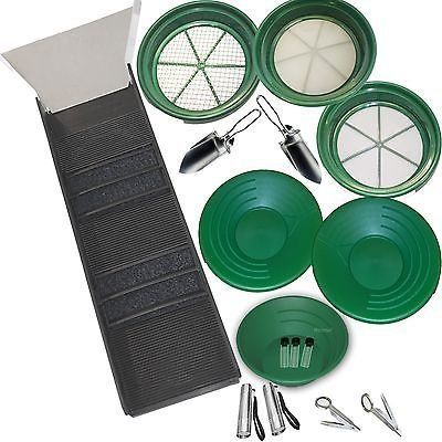 Classifier Sifting Pan Set Sluice Fox 11 Piece Gold Panning Supplies Kit
