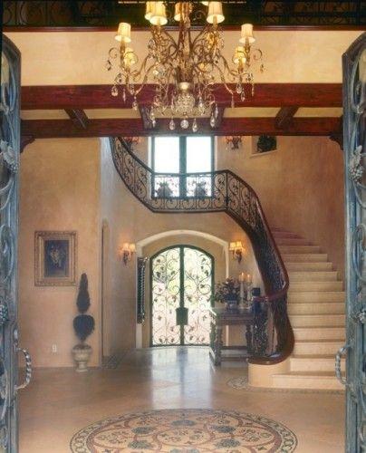 11 Elegant Hallway Decorating Ideas: Mediterranean Entry By Debra Kay George Interiors