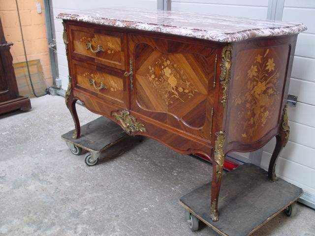 19th Century Roosewood Bombay Cabinet With Bronze And Marble Top   Cabinets    Houtroos
