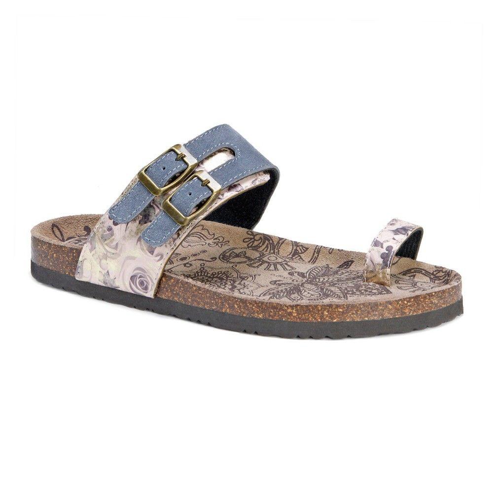 Womens sandals walmart - Women S Muk Luks Daisy Footbed Sandals Grey 10