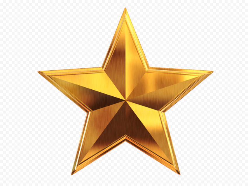 3d Gold Star Metal Effect Gold Stars Gold Metal
