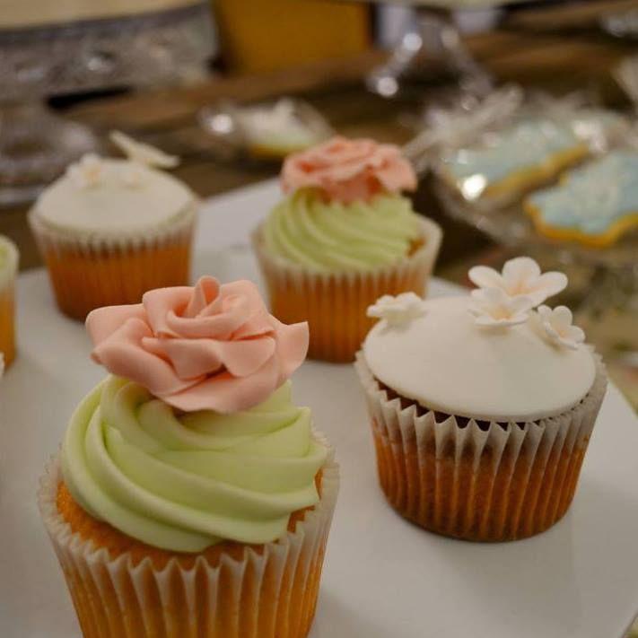 rose and blossom cupcakes www.facebook.com/cakesbycherrypiesheffield