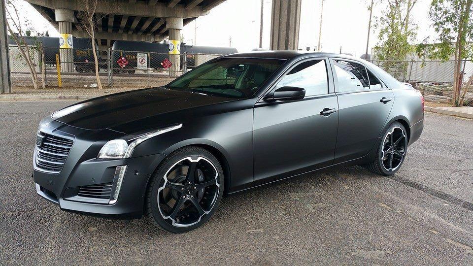 Cadillac Cts Gangster Black Haloefx Liquid Wrapped Vinyl Wrap Dip