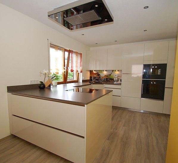 individuell bedruckte Glasrückwand, Kunststein und grifflose - glasrückwand küche beleuchtet