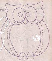 Moldes Para Artesanato em Tecido: Jogo de Banheiro Patch Apliquê de Coruja com Molde