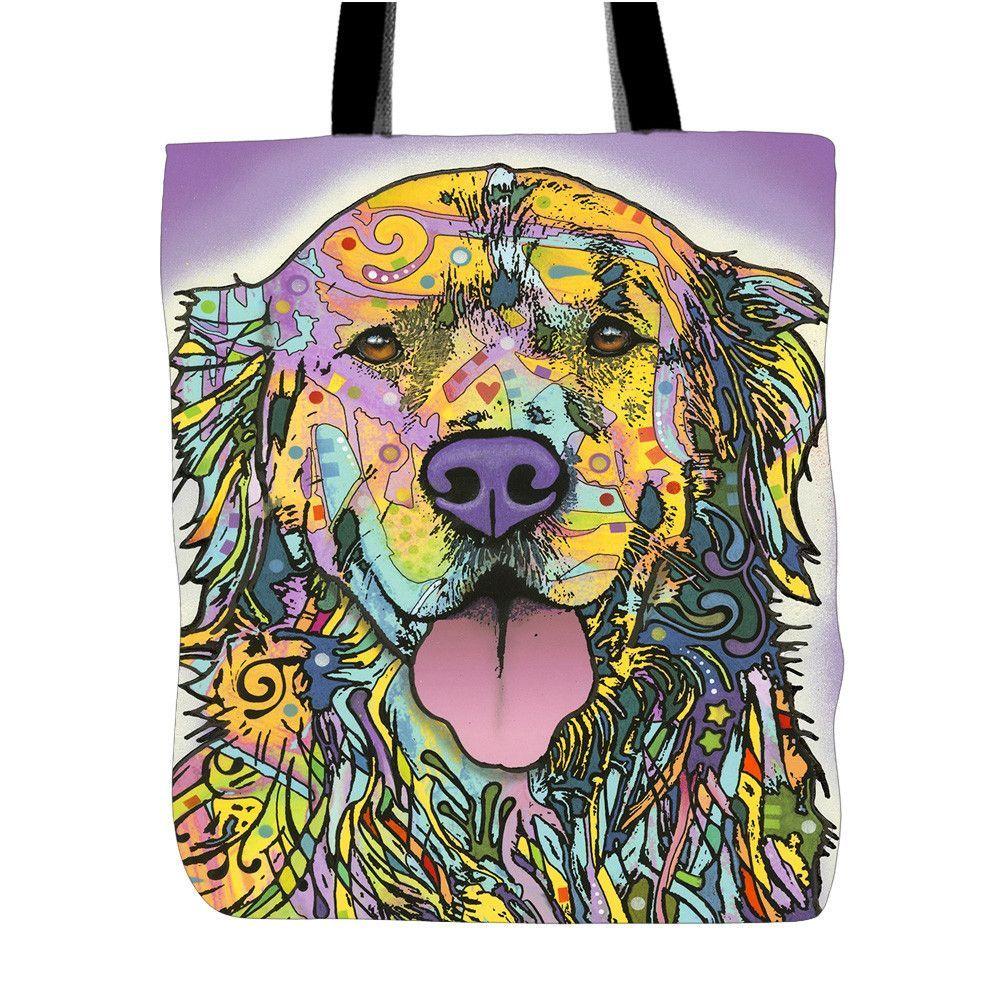 Golden Retriever Series Tote Bags - Dean Russo Art