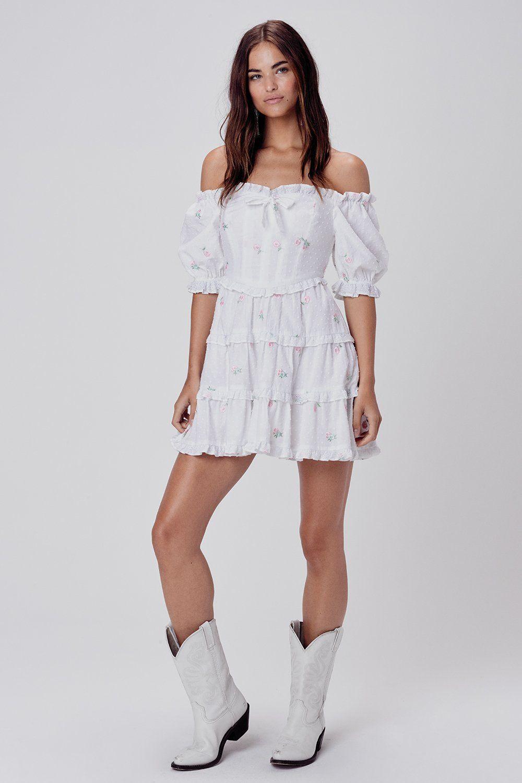 Rainey Off The Shoulder Mini Dress For Love Lemons In 2020 Mini Dress Pleated Mini Dress Dresses
