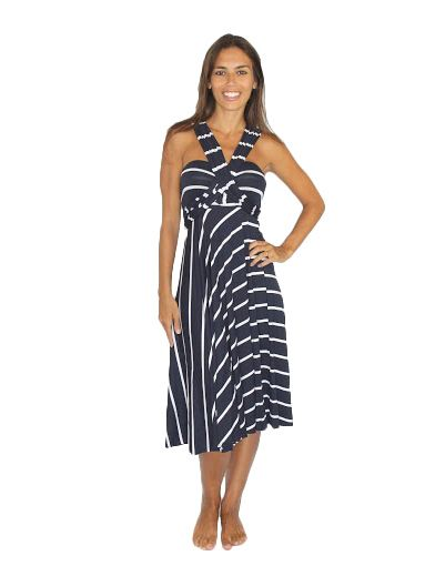 Skirt / Dress Convertible – Navy and White