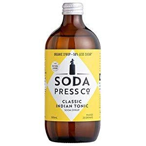 Soda Press Co Classic Indian Tonic Syrup 500ml Cupboard Pasta-Pulses Cupboard Spices-Seasonings Cupboard Minerals-Supplements Capsules Water