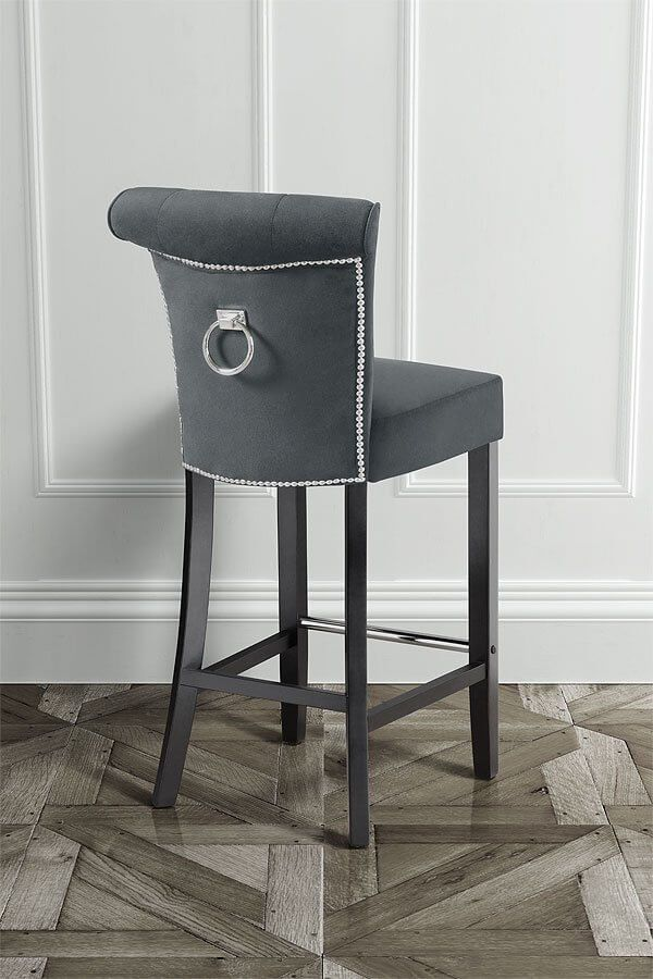 Positano Bar Stool With Back Ring Smoke Home Dining