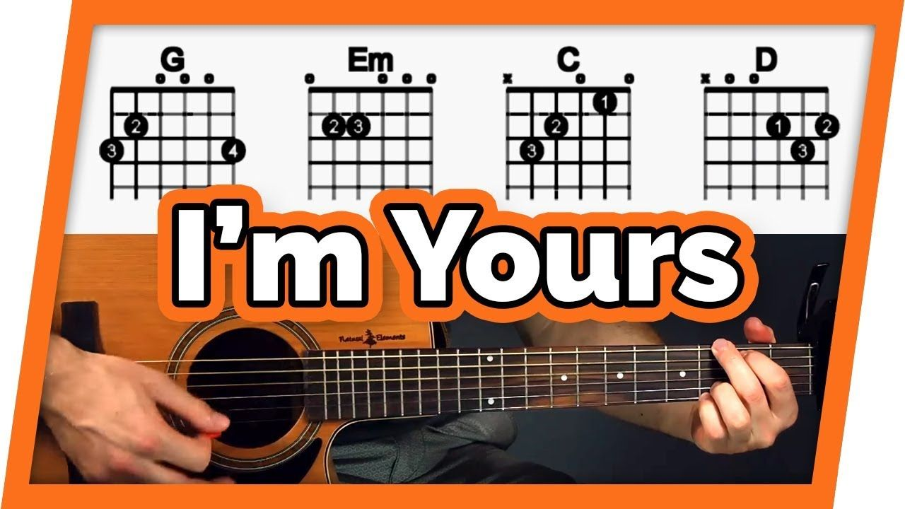 I M Yours Guitar Tutorial Jason Mraz Easy Chords Guitar Lesson Youtube Guitar Chords Guitar Songs For Beginners Guitar Lessons