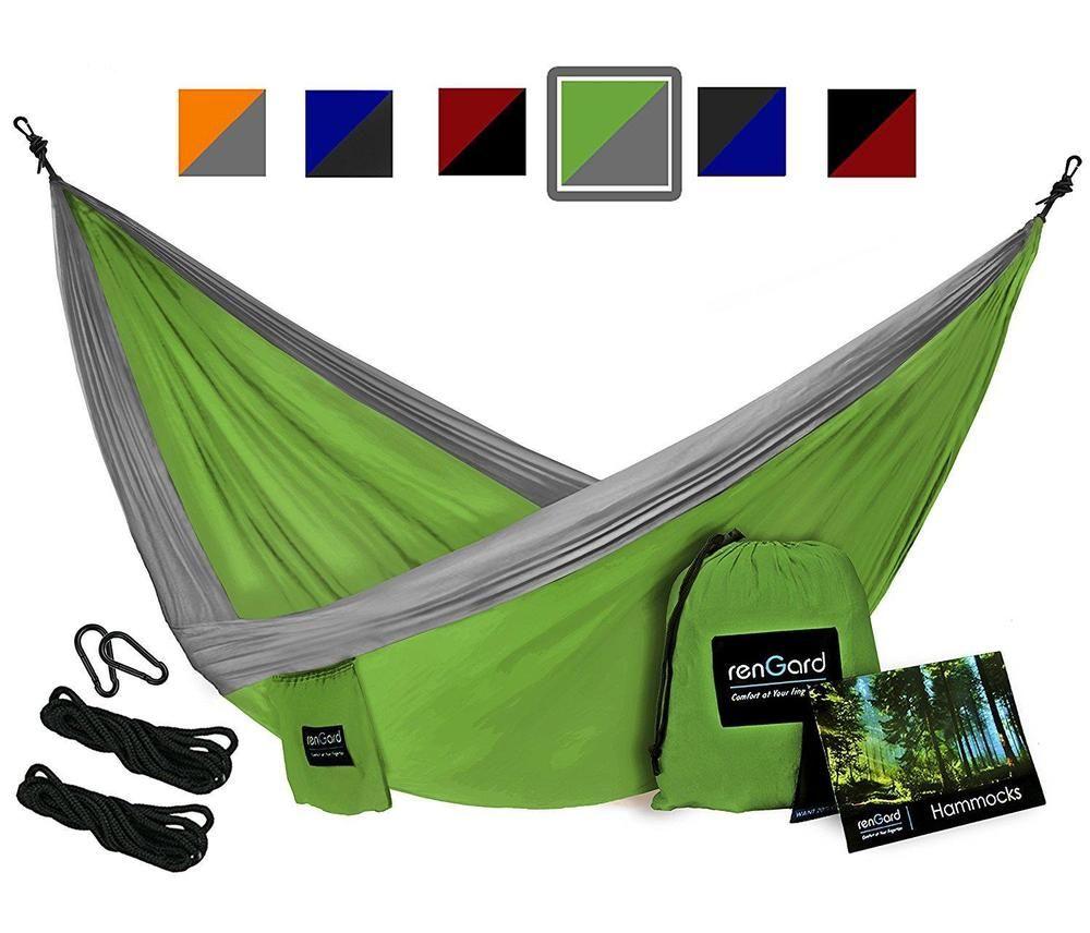 Cientos de articulos con descuento y envio gratis RenGard Portable Camping Hammock – Sturdy and Breathable… Ahorra con tus marcas preferidas