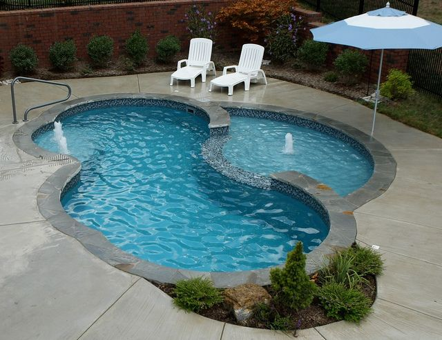Swim world pools extreme fiberglass pool with swim in for Pool design with tanning ledge