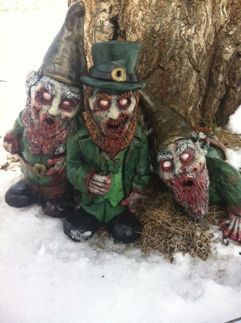 Walking Dead Leprechaun Gnome and friends by RevenantFX