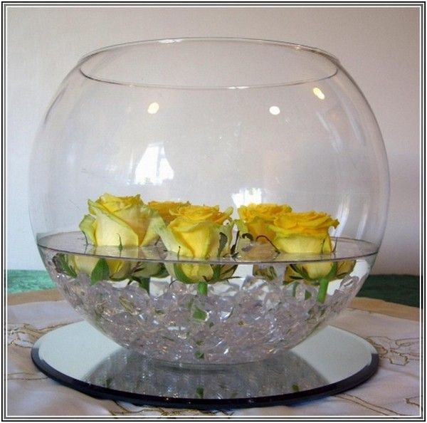 Fish Bowl Vase Decoration Ideas Sisustus Pinterest Flowers