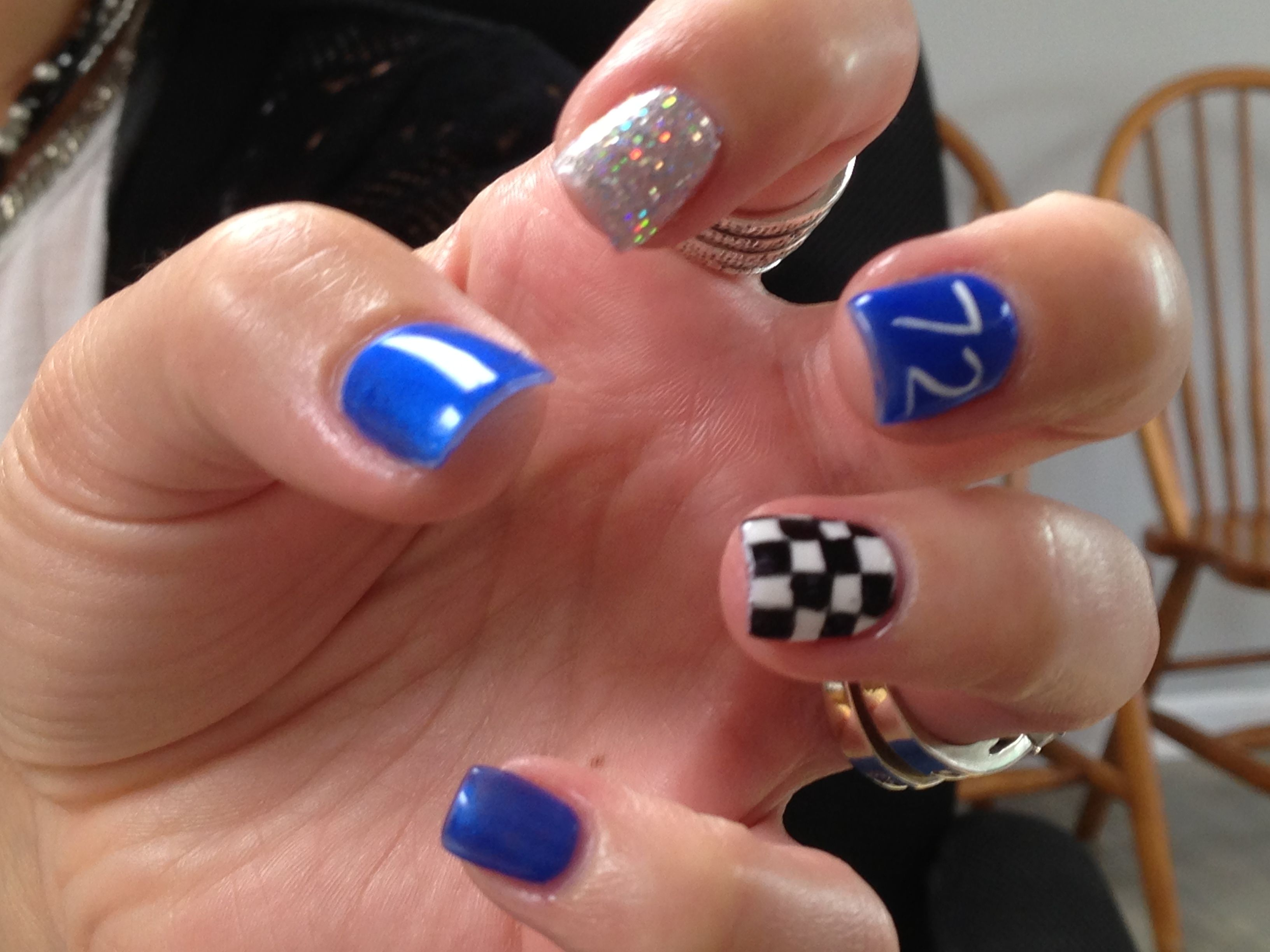 Racing Nail Designs Images - simple nail design ideas for beginners