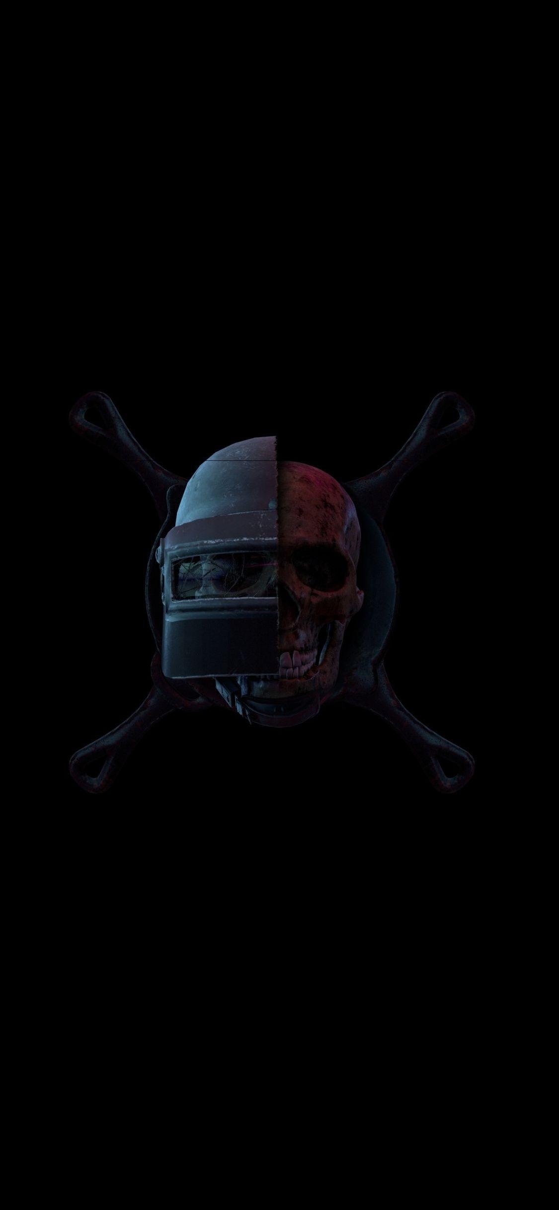 Helmet Skull Cooking Pan Pubg Artwork 1125x2436 Wallpaper