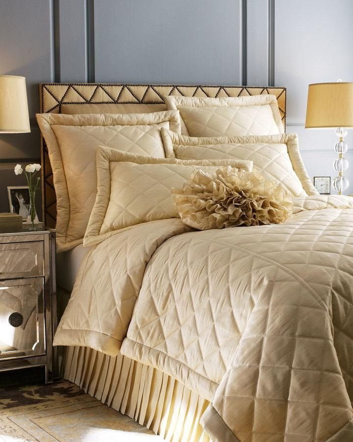 Ann Gish Diamond Silk Coverlets Shams This Shimmering Coverlet Is A Perfect Way