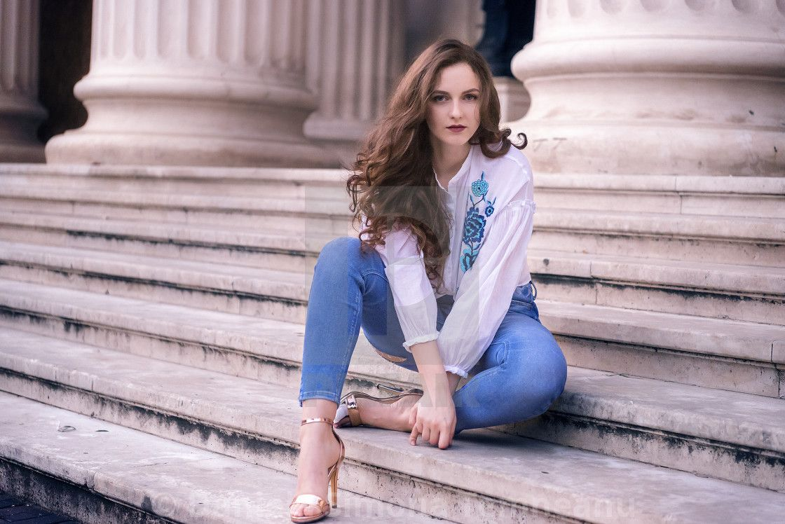Image result for woman sitting on stairs Women, Fashion