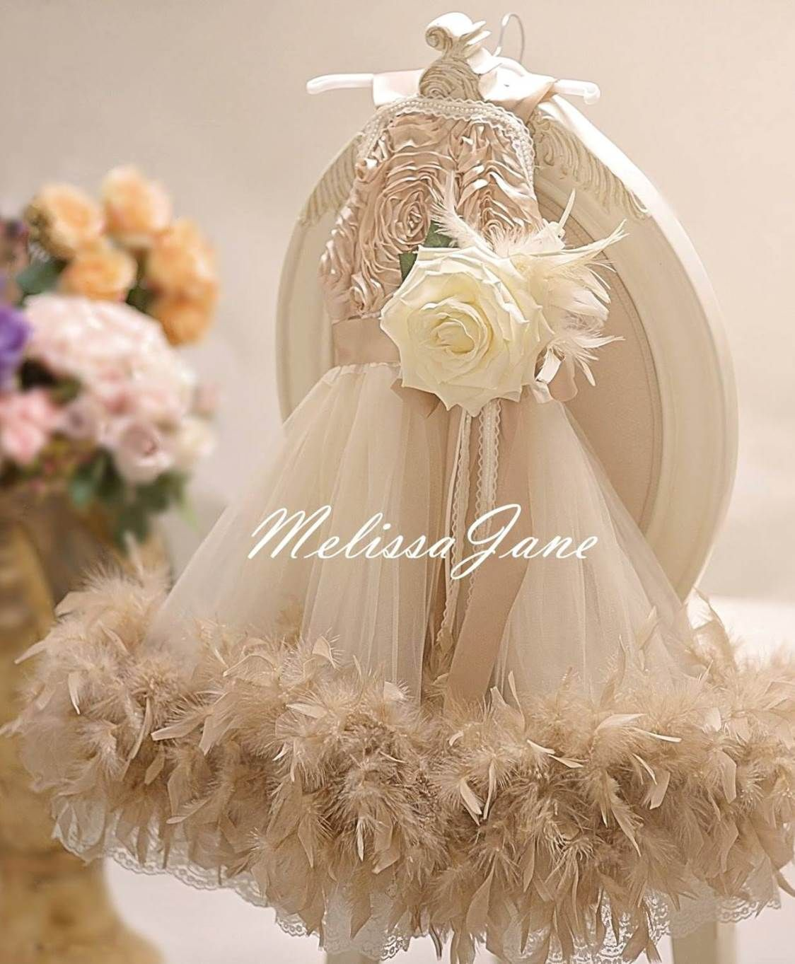 Feather Flower Girl Dresses