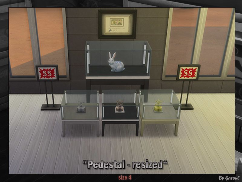 Pedestal SIMS 4 resized ! Entirely Functionnal !!  Found in TSR Category 'Sims 4 Sets'