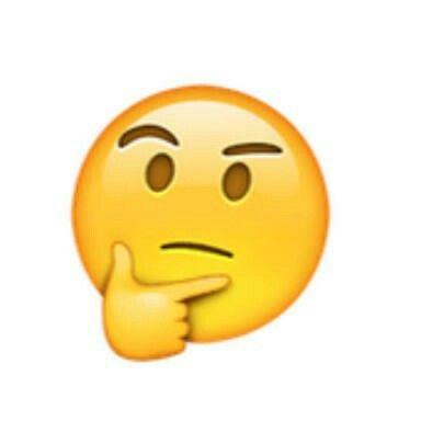 Resultado de imagen de emoji pensativo