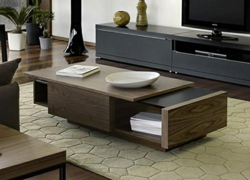 Moderne attraktive Couchtische fürs Wohnzimmer platte holz ankit