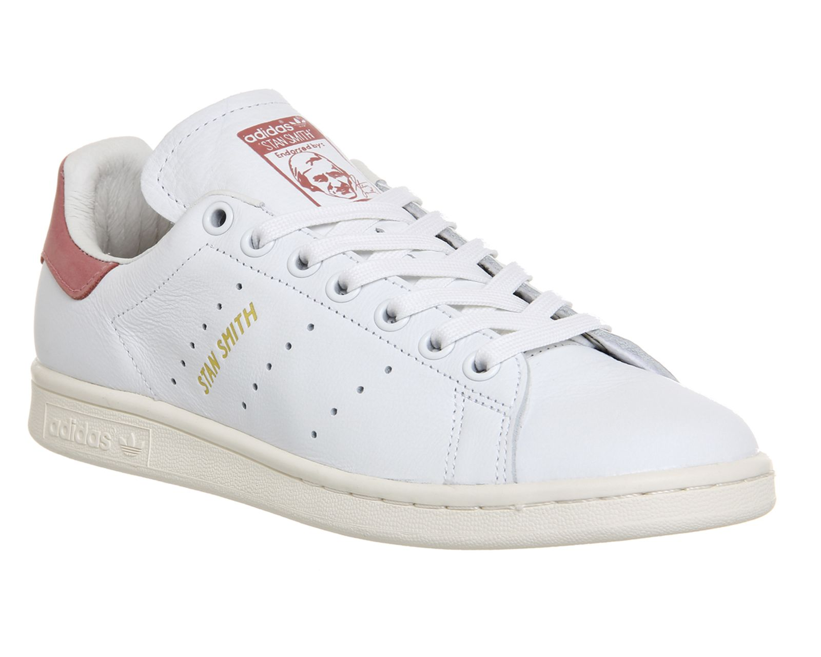 Buy White Ray Pink Adidas Stan Smith from OFFICE.co.uk.