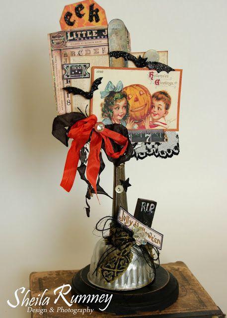 Jolly Halloween Decor with Polly\u0027s Paper Studio Vintage Halloween