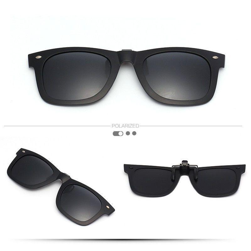 f496bc6b28e Men s Polarized Sunglasses Clip On Driving Glasses Day Night Vision Lens  Uv400