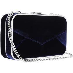 Photo of Karl Lagerfeld Postcard Velvet Minaudiere Crossbody Bag Midnight Blue in marine Clutch für Damen Kar