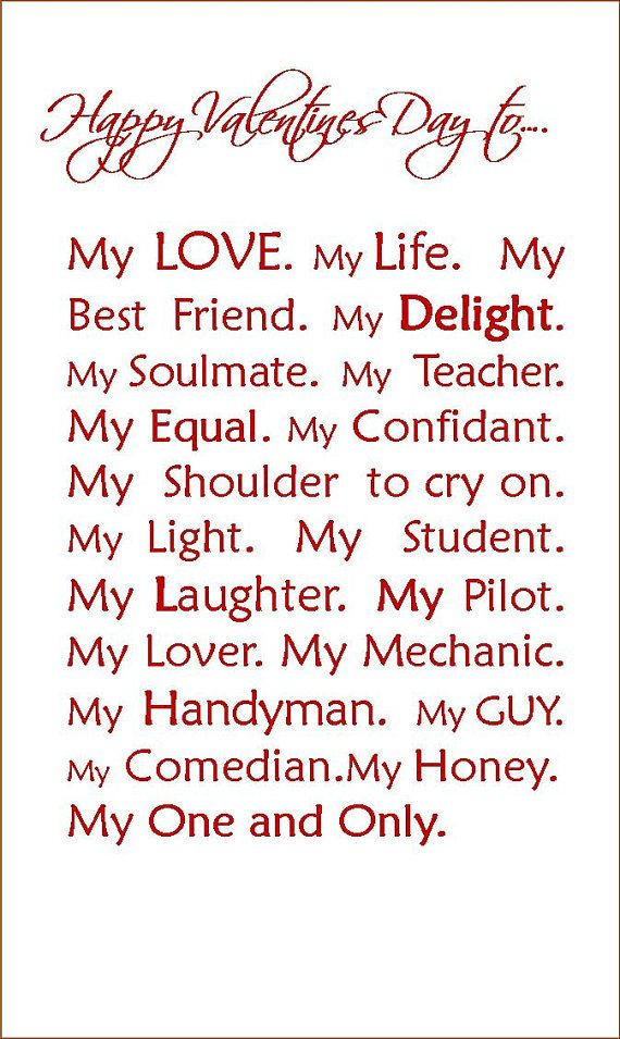 Love print Romantic gift Valentines gift present for him her – Valentines Day Card for Husband