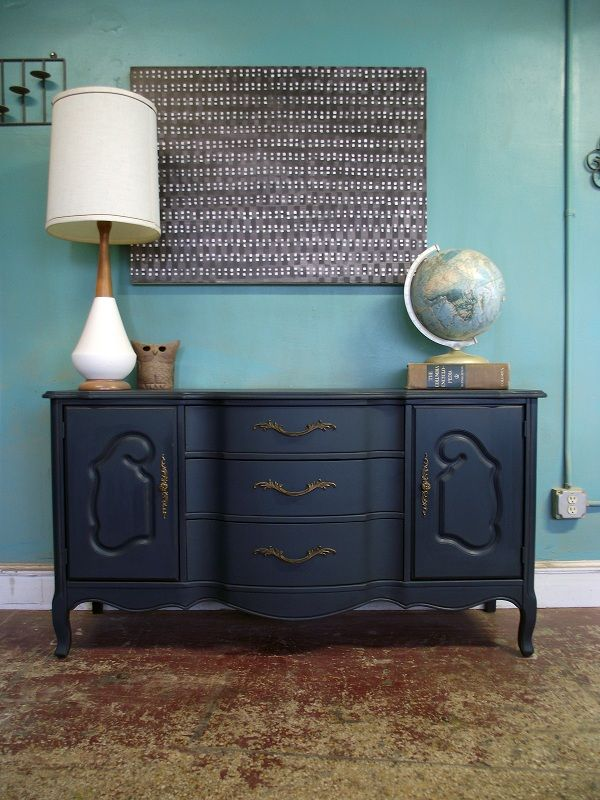 Upcycled Sideboard With Mirror