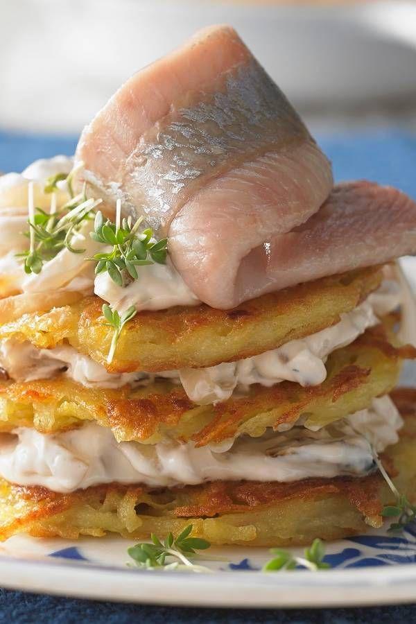 Holsteiner cloud: filets de matje au rösti de pommes de terre