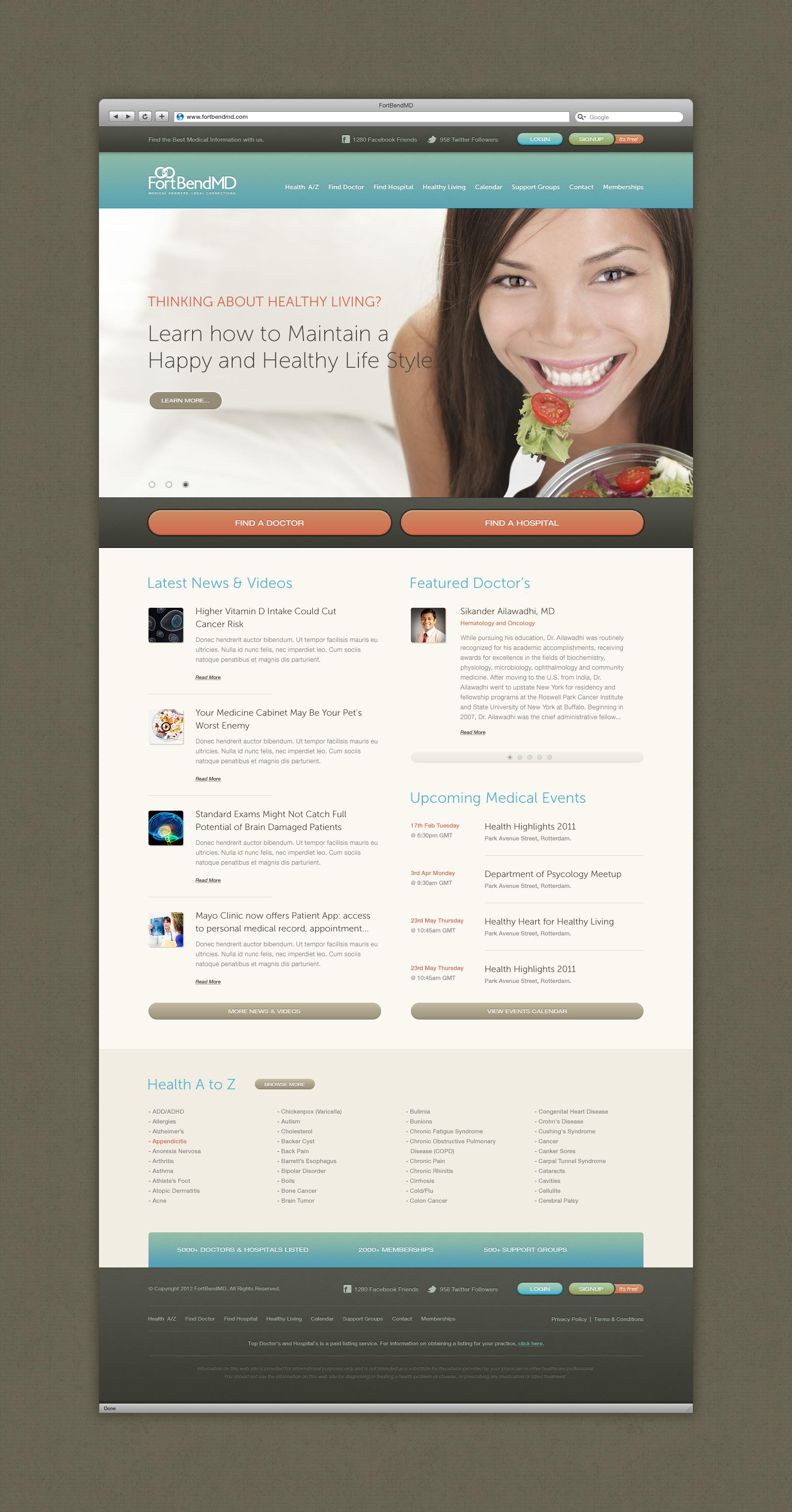 FortBendMD Healthy life, Healthy living, Website hosting