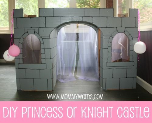 DIY Cardboard Castle that lasts for months Perfect for parties and long after!