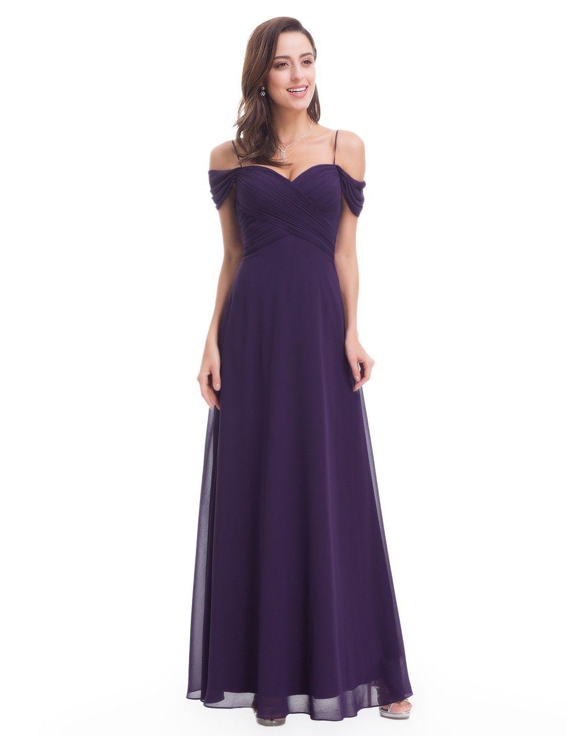 775d4dadbbb Off Shoulder Sweetheart Chiffon Evening Dress