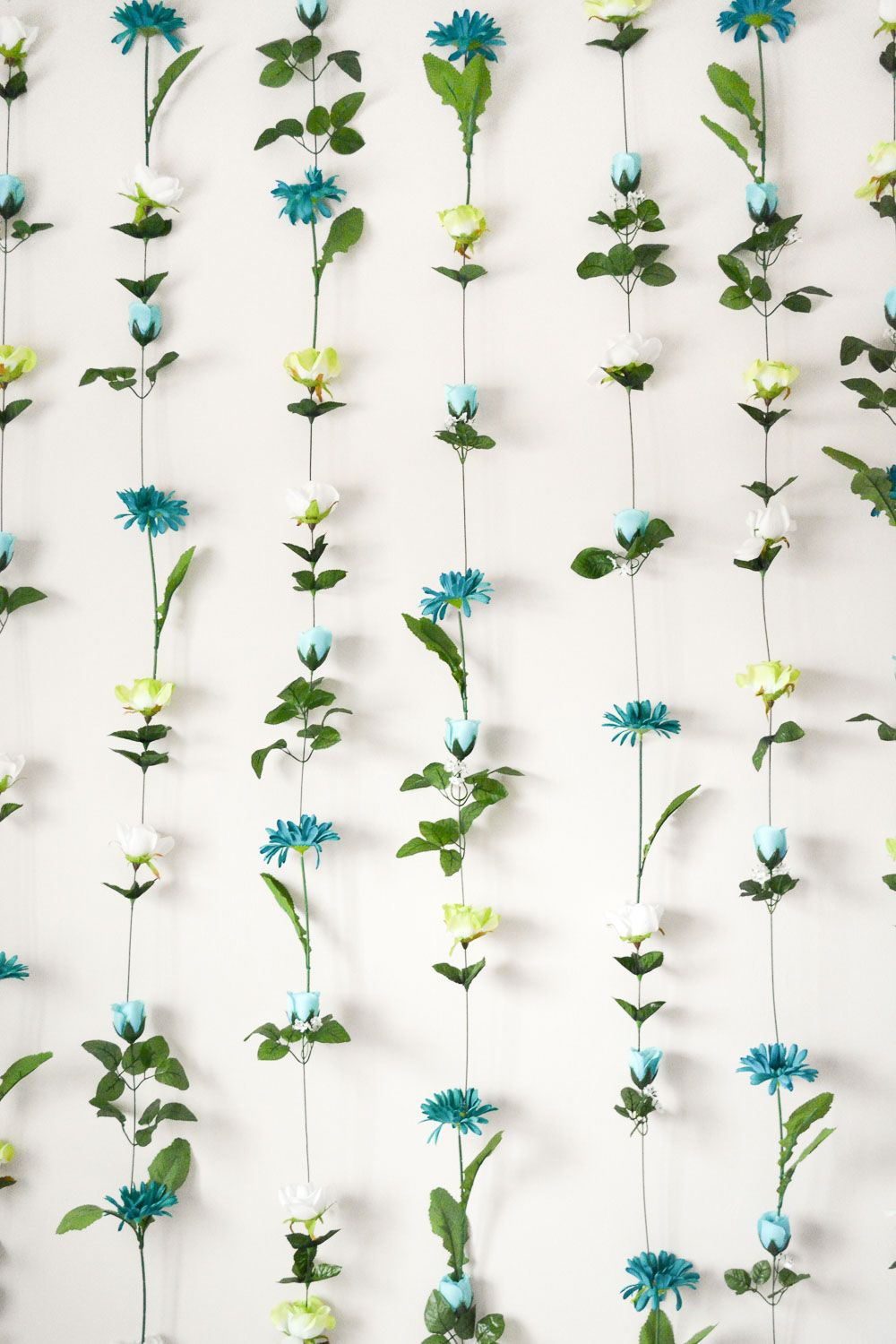 DIY Flower Wall | Flower wall backdrop, Flower wall decor ... on Hanging Wall Sconces For Flowers id=70545
