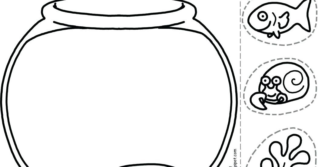 fish bowl outline printable fish bowl template give your octopus a