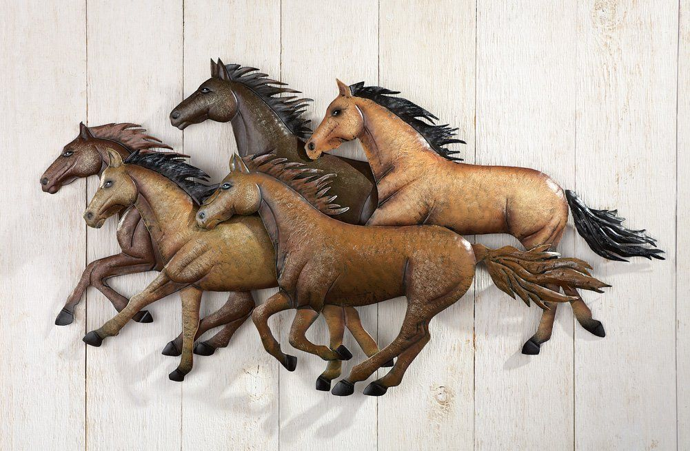 rustic southwestern running horses wall art horse wall on wall art id=12169