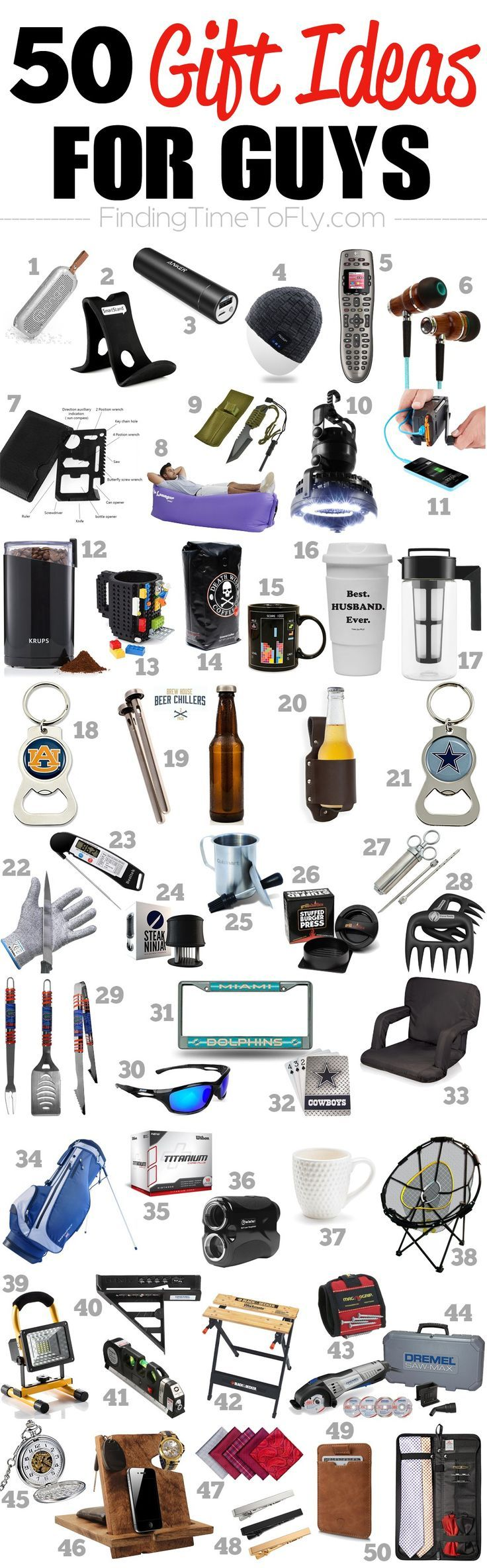 Saving This List Of 50 Gifts For Guys A Great List Of Gift Ideas For Men To Shop For Birthdays Valentine S Day Boyfriend Gifts Mens Birthday Gifts Mens Gifts