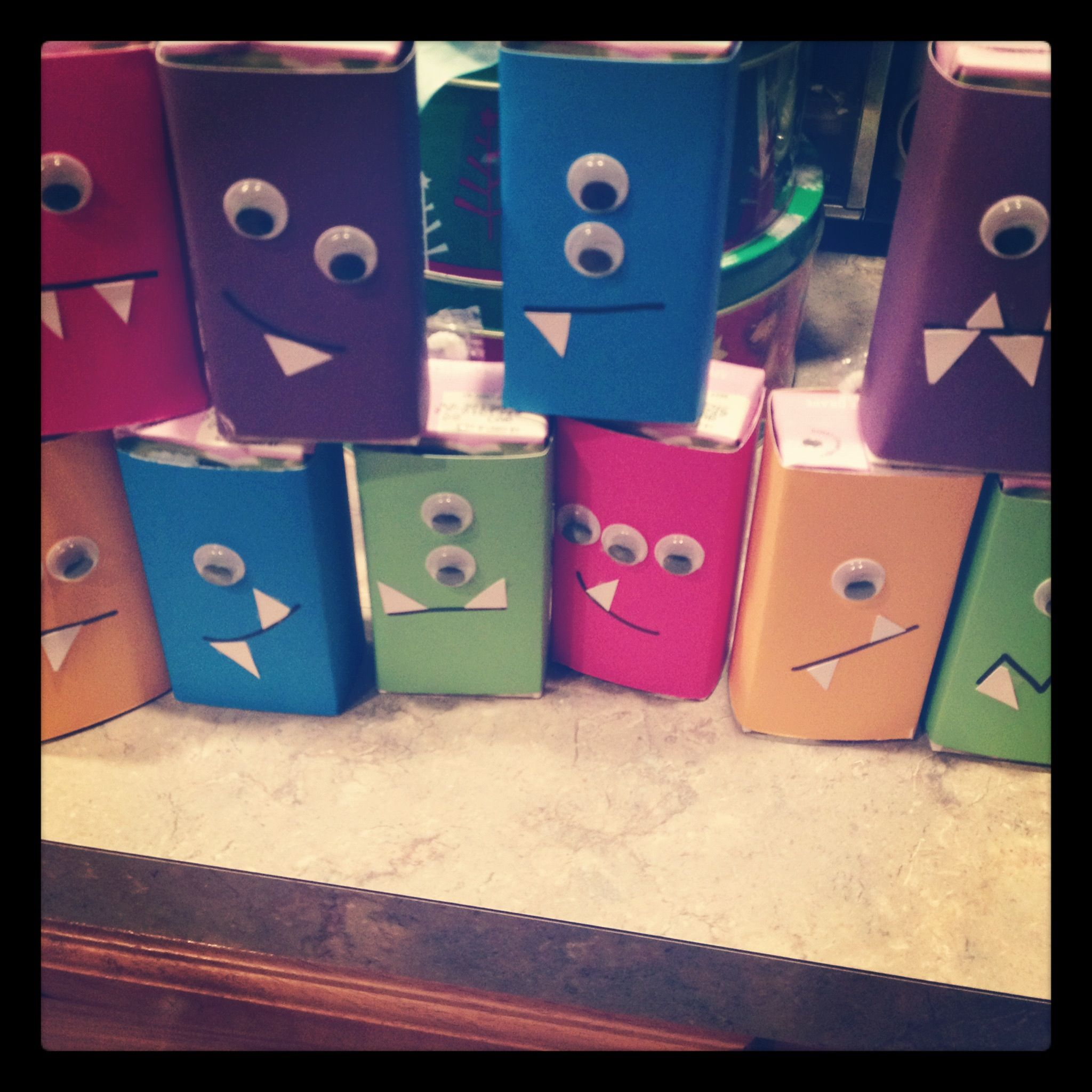 Monster juice boxes for Ella's party. Juice boxes (I used ...