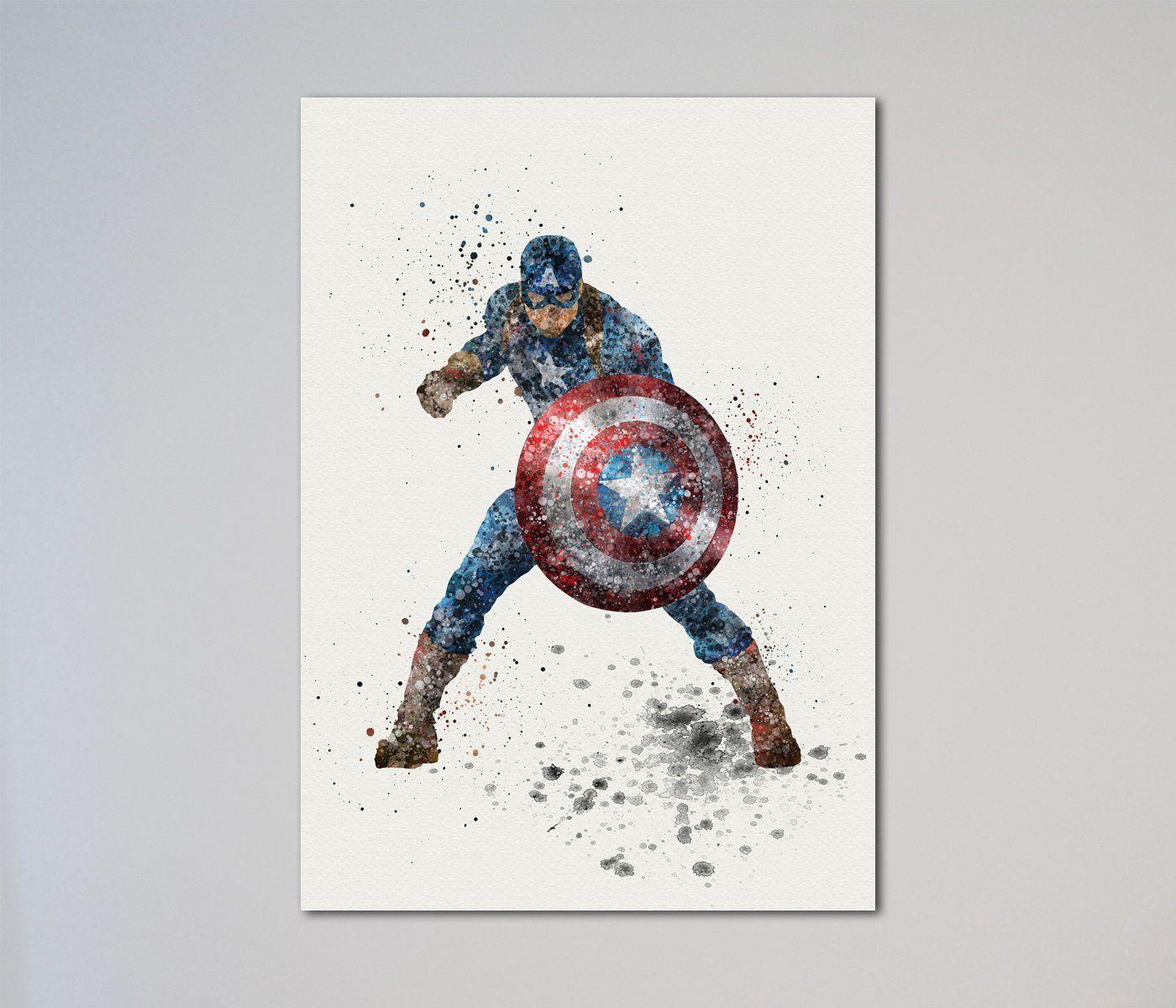 Captain America Civil War Steve Rogers Print. This is a printed art ...