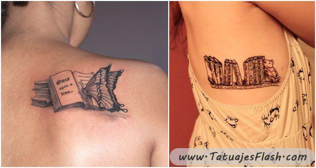 Tatuajes De Libros Para Mujeres Tatuajes Pinterest Tattoos