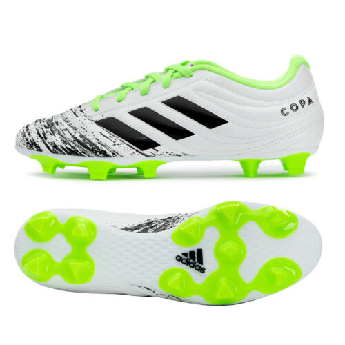 Adidas Copa 20 4 Firm Ground Fg Football Boots Shoes Soccer Cleats White G28526 In 2020 Soccer Cleats Soccer Boots Football Shoes