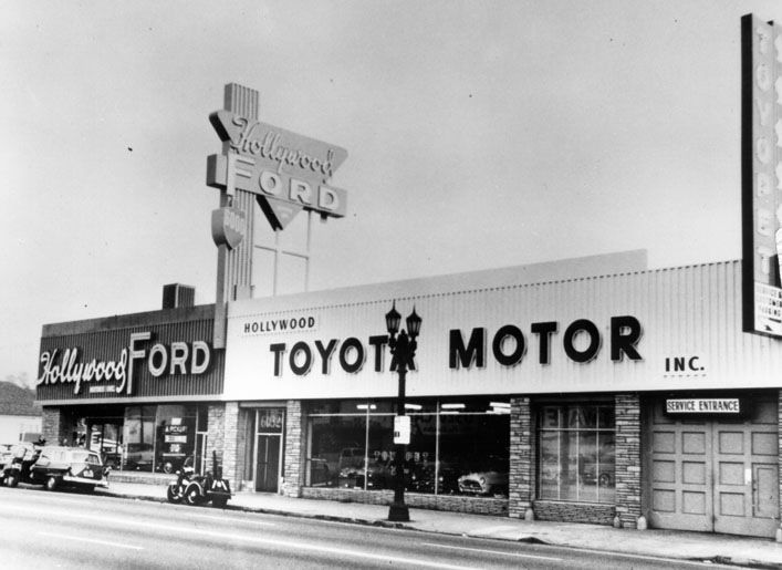 First Toyota Dealer Hollywood Ca Opened October 31st 1957