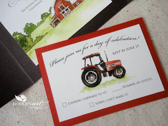 Wedding Invitations Country Theme: Handmade Country Farm Wedding Invitation By NooneyArt On