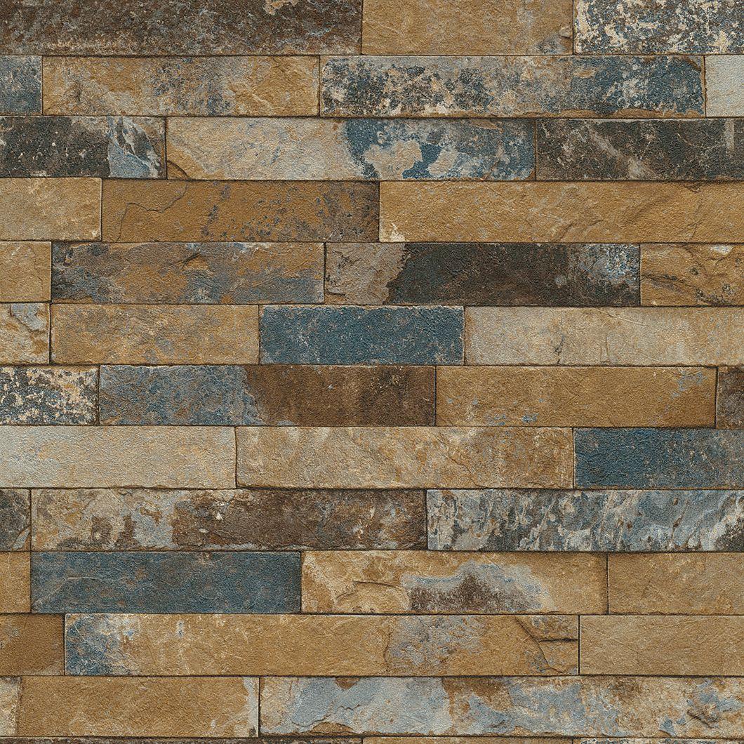 Aged Brick Vinyl Wallcovering Faux brick wallpaper