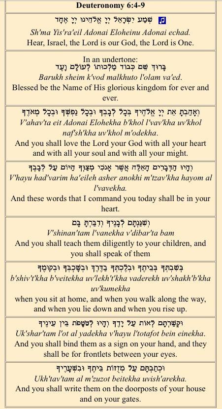 The shema israel-3119