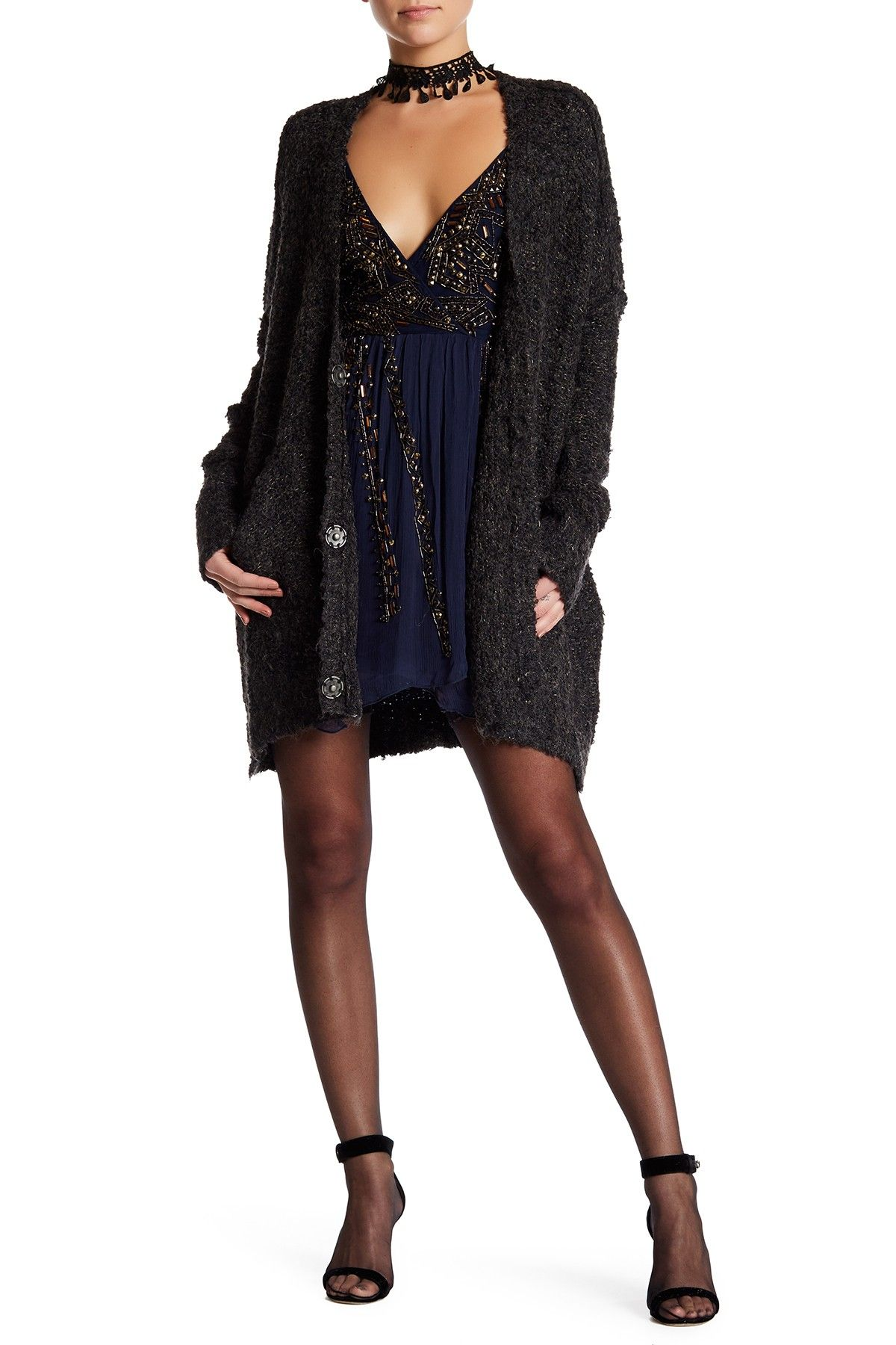 Free people front button long sleeve cardigan products